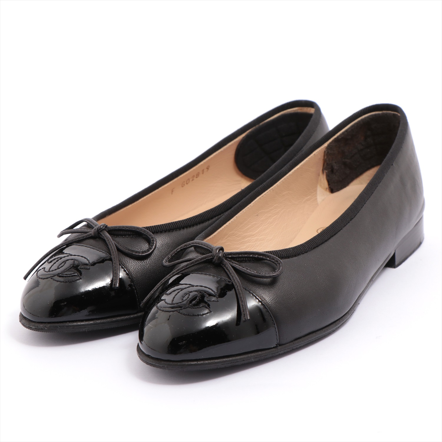 [Used goods] Chanel leather × patent pumps size 35 1/2 Ladies black Kokomaku