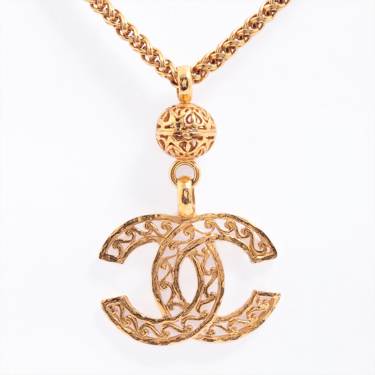 [Used goods] Chanel Coco mark necklace GP gold chain
