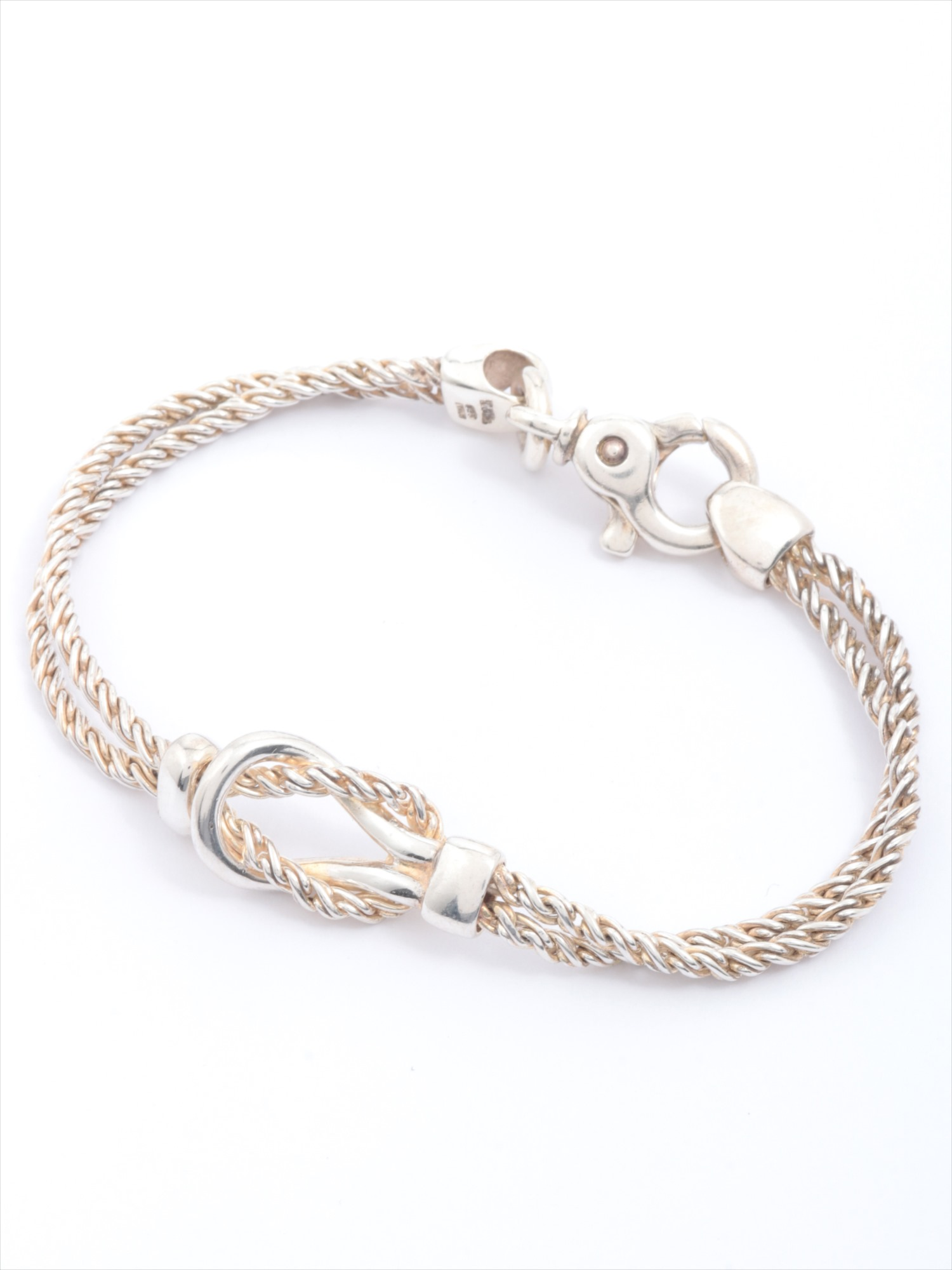 [Used article] Tiffany knot bracelet 925 Silver double rope
