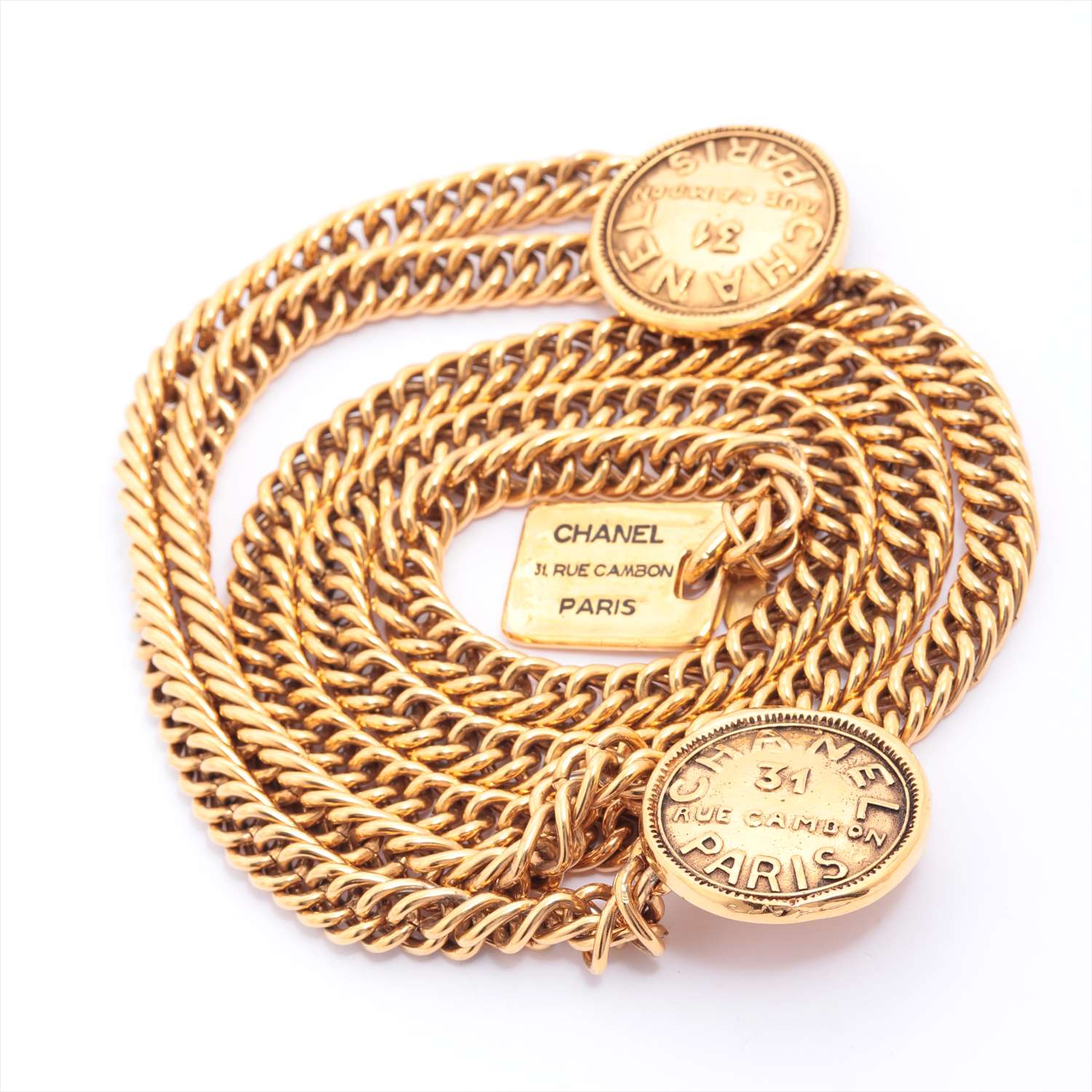 [Used goods] Chanel Cambon chain belt GP Gold