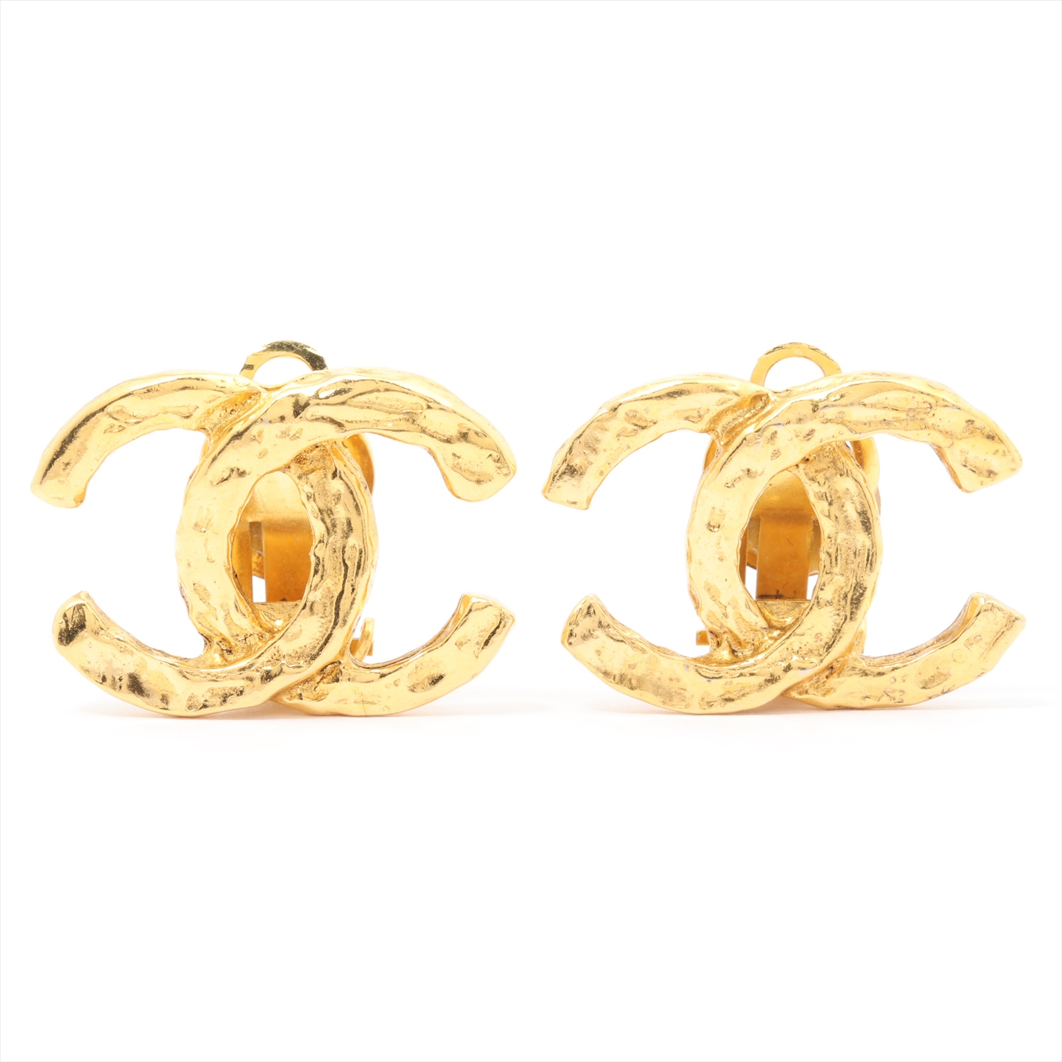 [Used goods] Chanel Coco mark earrings (for both ears) GP Gold