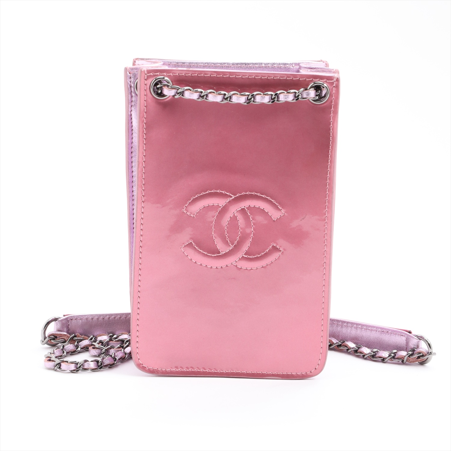 [Used goods] Chanel Coco mark patent leather sporran chain pink 19 series