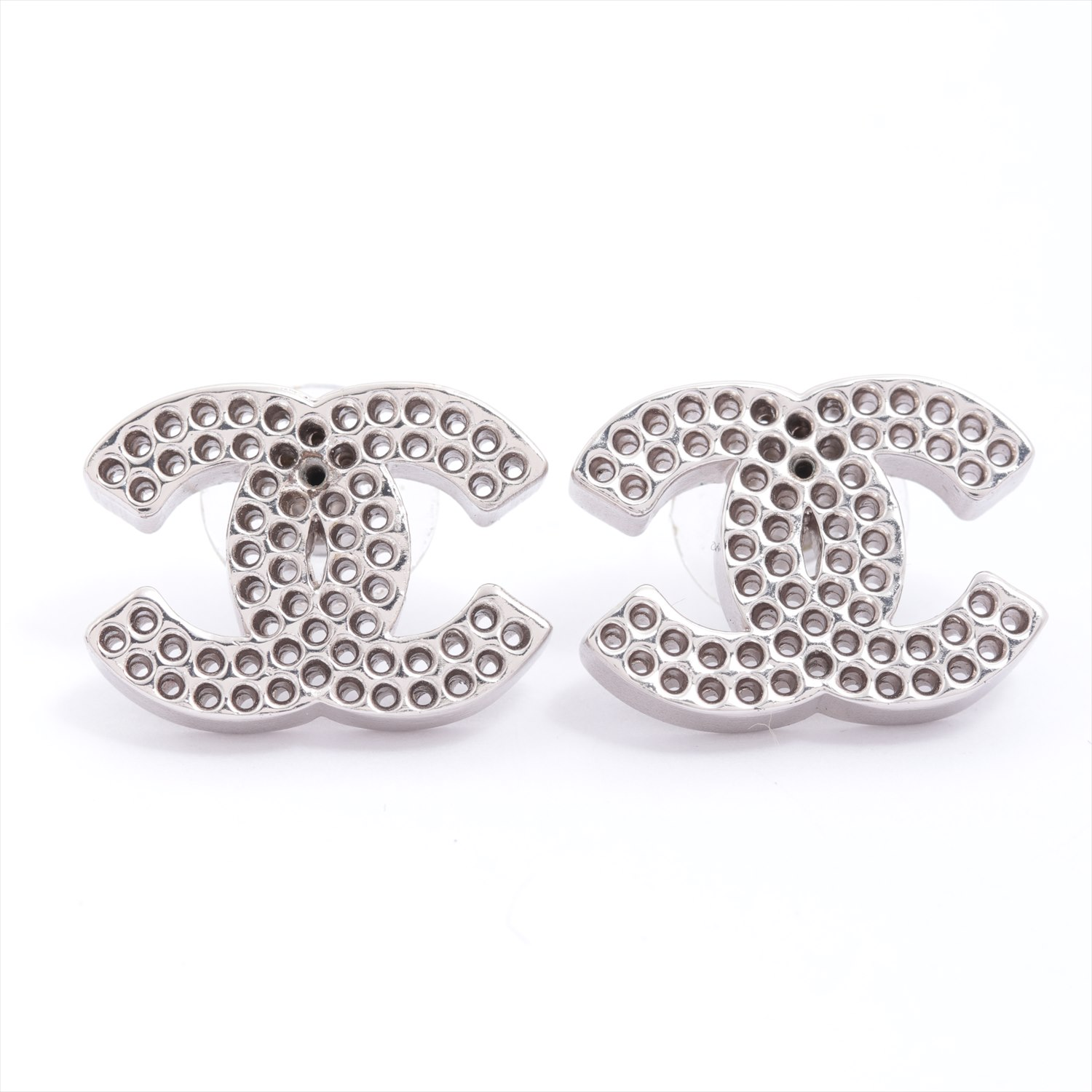 [Used goods] Chanel Coco mark earrings (for both ears) SV Silver