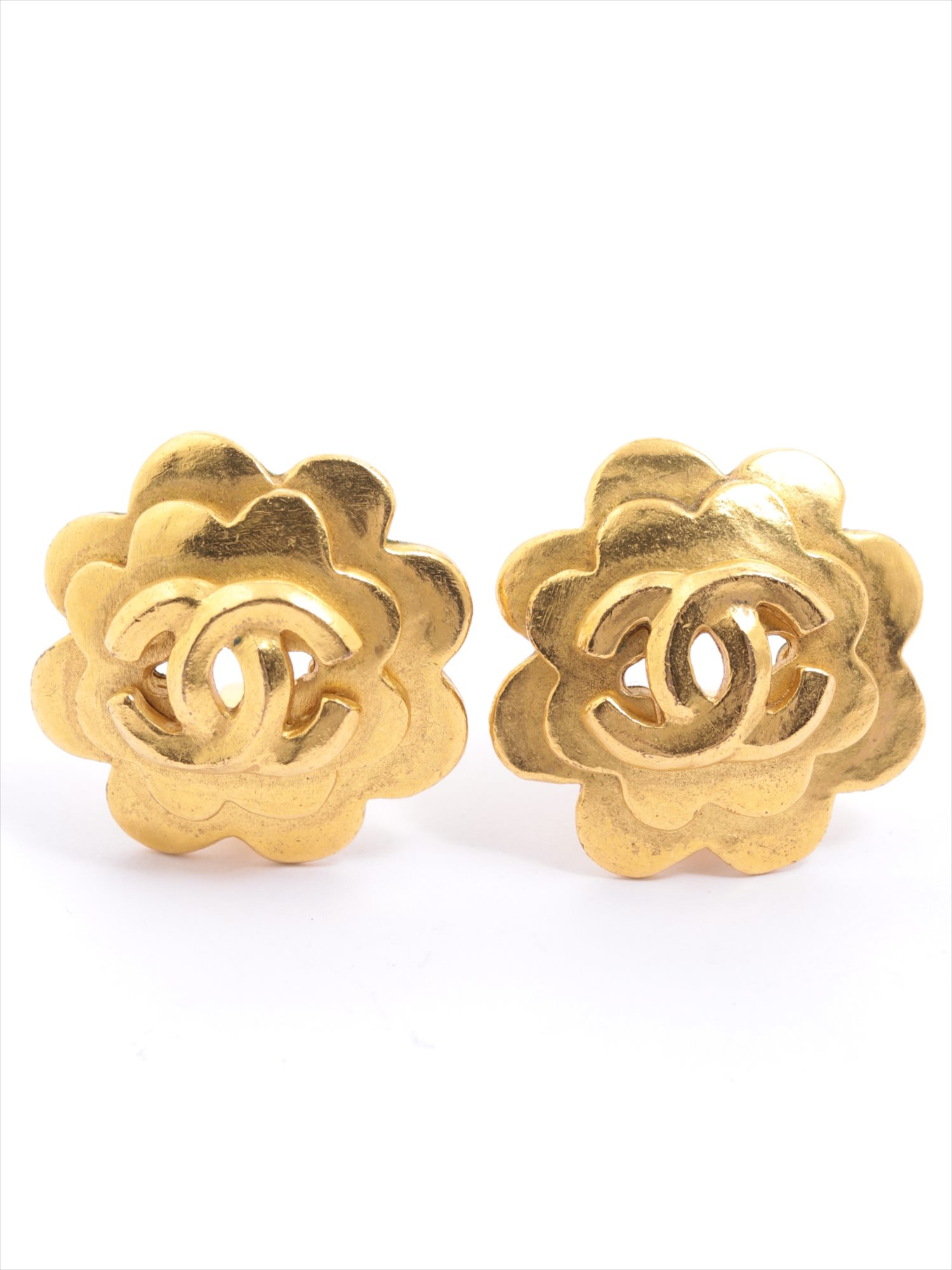 [Used goods] Chanel Coco mark earrings (both for the ear) GP Gold 96P