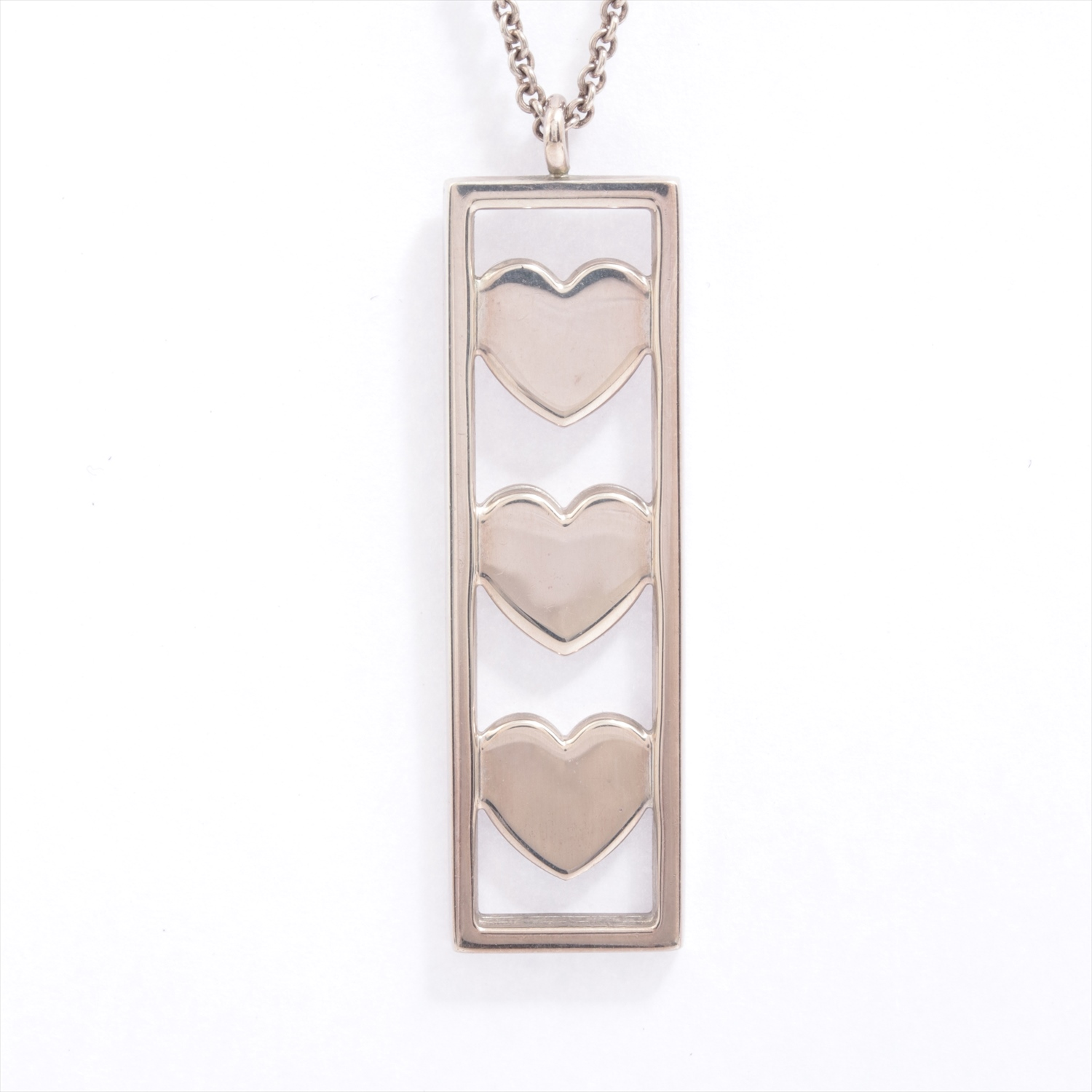 Used Article Tiffany Necklace 925 9 5g Silver Frame Heart Dokodemo